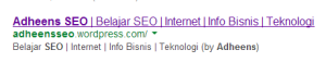 Home Description / Deskripsi pada SERP Google