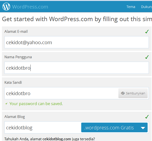 Cara Membuat Blog Gratis di WordPress.com