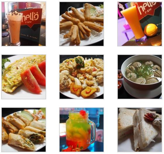 Menu Makanan & Minuman di Hello fktv